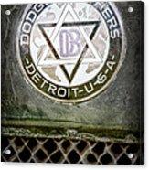 1923 Dodge Brothers Depot Hack Emblem Acrylic Print