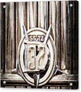 1933 Stutz Dv-32 Five Passenger Sedan Emblem Acrylic Print