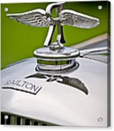 1937 Railton Rippon Brothers Special Limousine Hood Ornament Acrylic Print by Jill Reger