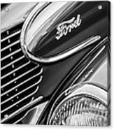 1939 Ford Woody Wagon Side Emblem Acrylic Print