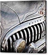 1947 Buick Eight Super Grille Emblem Acrylic Print