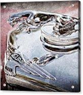 1948 Jaguar Mark Iv Drophead Coupe Hood Ornament Acrylic Print