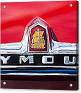 1949 Plymouth P-18 Special Deluxe Convertible Emblem Acrylic Print by Jill Reger