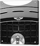 1952 Aston Martin Db3 Sports Hood Emblem Acrylic Print by Jill Reger