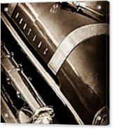 1955 Pontiac Star Chief Grille Emblem - Hood Ornament Acrylic Print
