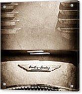 1956 Austin-healey 100m Bn2 'factory' Le Mans Competition Roadster Hood Emblem Acrylic Print