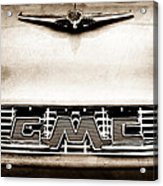 1956 Gmc 100 Deluxe Edition Pickup Truck Hood Ornament - Grille Emblem Acrylic Print