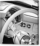 1957 Chevrolet Corvette Steering Wheel Emblem Acrylic Print