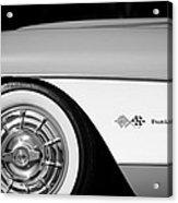 1957 Chevrolet Corvette Wheel Emblem Acrylic Print