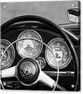 1961 Alfa Romeo Giulietta Spider Steering Wheel Emblem -1185bw Acrylic Print
