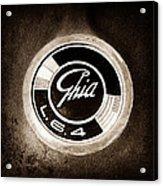 1962 Ghia L6.4 Coupe Emblem Acrylic Print