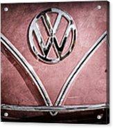 1964 Volkswagen Vw Double Cab Emblem Acrylic Print