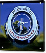 1965 Shelby Prototype Ford Mustang Emblem Acrylic Print