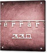 1967 Ferrari 330 Gtc Emblem Acrylic Print
