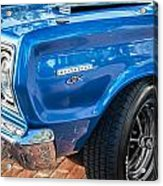 1967 Plymouth Belvedere Gtx 440 Painted  Acrylic Print