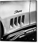 1969 Chevrolet Corvette 427  Bw Acrylic Print