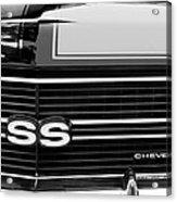 1970 Chevrolet Chevelle Ss Grille Emblem Acrylic Print