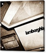 1982 Lamborghini Countach 5000s Taillight Emblem Acrylic Print