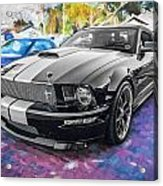 2007 Ford Mustang Shelby Gt Painted  Acrylic Print