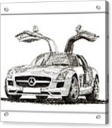 Gull Wing Mercedes Benz S L S Gull-wing Acrylic Print