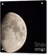 3/4 Moon Acrylic Print