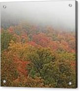 A Foggy Autumn Day At The United States Military Academy At West Acrylic Print