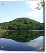 A Reflective View Of Round Pond At The United States Military Academy Acrylic Print