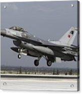 A Turkish Air Force F-16c Fighting Acrylic Print