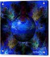 Abstract Blue Globe Acrylic Print