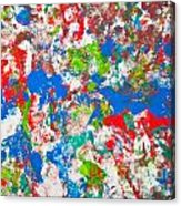 Abstract Colorful Painting Background Acrylic Print