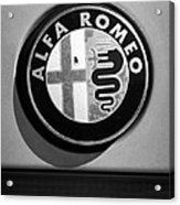 Alfa Romeo Emblem Acrylic Print