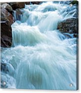 Alluvial Fan Falls On Roaring River In Rocky Mountain National Park Acrylic Print