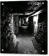 A Tunnel In The Catacombs Of Paris France Acrylic Print