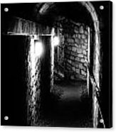 Altered Image Of The Catacomb Tunnels In Paris France Acrylic Print