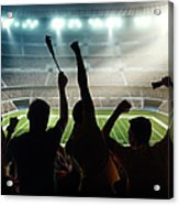 American Football Fans At Stadium Acrylic Print