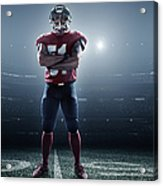 American Football In Action Acrylic Print
