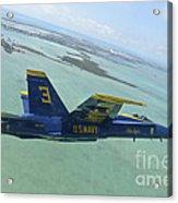 An Fa-18 Hornet Of The Blue Angels Acrylic Print