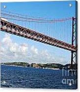 April Bridge In Lisbon Acrylic Print