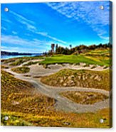 #3 At Chambers Bay Golf Course - Location Of The 2015 U.s. Open Championship Acrylic Print by David Patterson