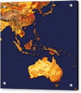 Australasia And South-eastern Asia Acrylic Print