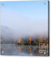 Autumn Mist On Lake Acrylic Print