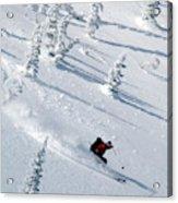 Backcountry Ski Traverse In Glacier Acrylic Print