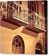 Balconies Acrylic Print by Tom Gowanlock
