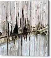 Battered Wooden Wall Acrylic Print
