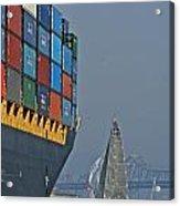 Bay Sailing Acrylic Print