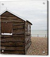 Beach Hut At Kingsdown Acrylic Print