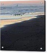Beach Sunset Ormond Beach Acrylic Print