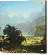 Bierstadt's Lake Lucerne Acrylic Print