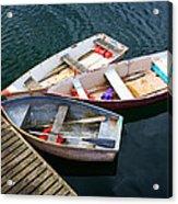 3 Boats Acrylic Print by Emmanuel Panagiotakis