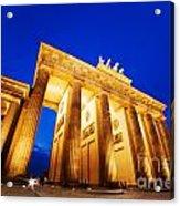 Brandenburg Gate Berlin Germany Acrylic Print